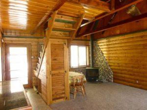 Interior log siding