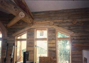 Beetle kill wood on interior.