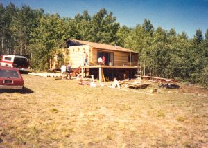 Remodel with log siding and Timberline log corners in the mountains above Fairplay, CO
