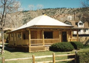 Remodel with log siding and Timberline log corners in Lyons Colorado