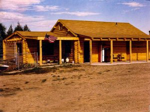 Remodel with log siding and Timberline log corners at a sawmill in Laporte,CO