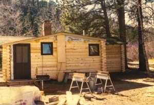 Remodel with log siding and Timberline log corners at the Rockmont Cottages in Estes Park CO.