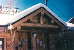 Small log truss