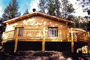Remodel with log siding and Timberline log corners in the mountains.