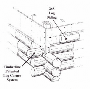 Timberline patented log corner